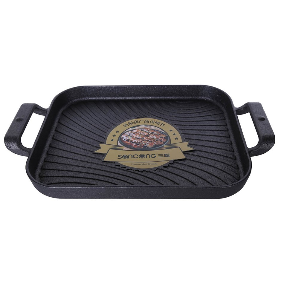CAST Iron Griddle Pan 360 x 170mm. Buyers Note - Discount Freight Rates App