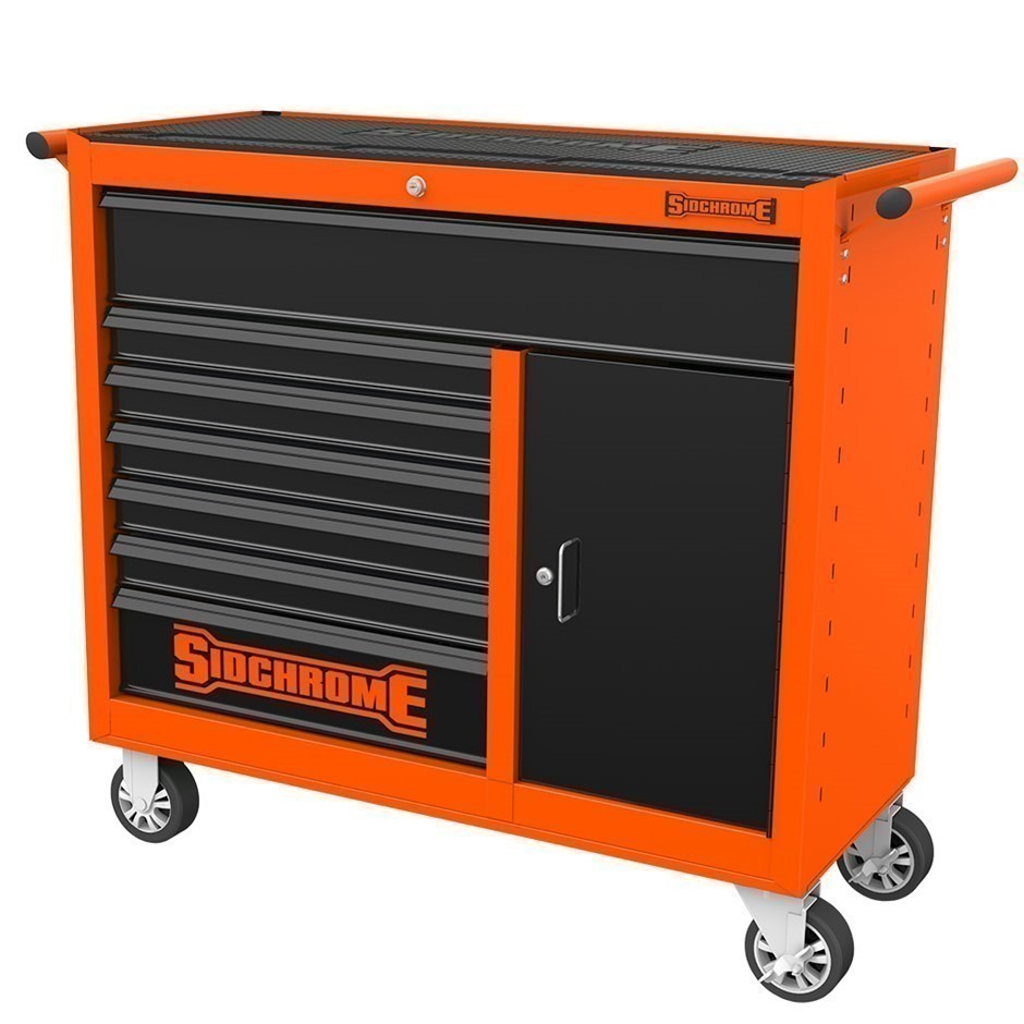 SIDCHROME 7-Drawer Wide Body Roller Tool Cabinet 1065mm (L) x 457mm (D) x 1