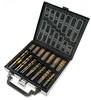 JMV 99pc Titanium Coated Drill Bit Set In Carry Case, Sizes: Size: 16pc x 1