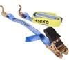 4 x Ratchet Tie Down Assemblies 25mm x 4m c/w Hook & Keeper L/C 450Kg. Buye