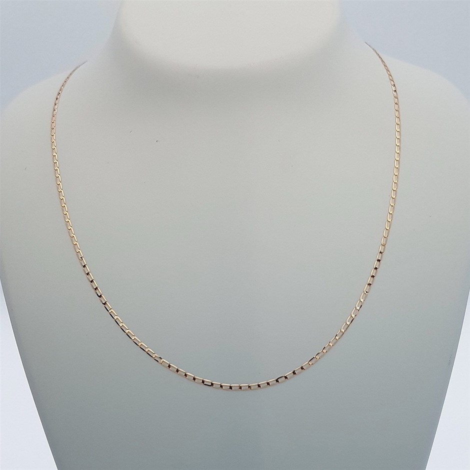 Genuine Italian 9 Karat Rose Gold 45 cm chain necklace