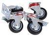 Set Of 4 Swivel Castor Wheels 75mm Rubber Wheels, 2 x Brakes. Buyers Note -