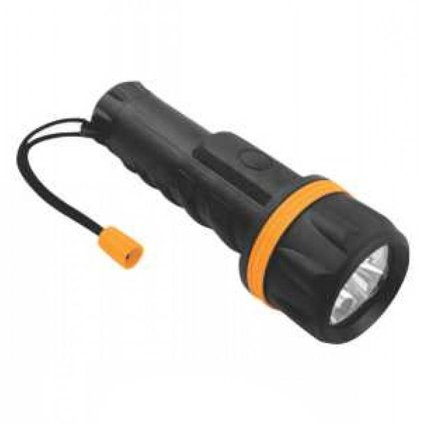 6 x TOLSEN 7-LED Torch Lights 20cm, Water Resistant & Shock- Proof, Takes 2