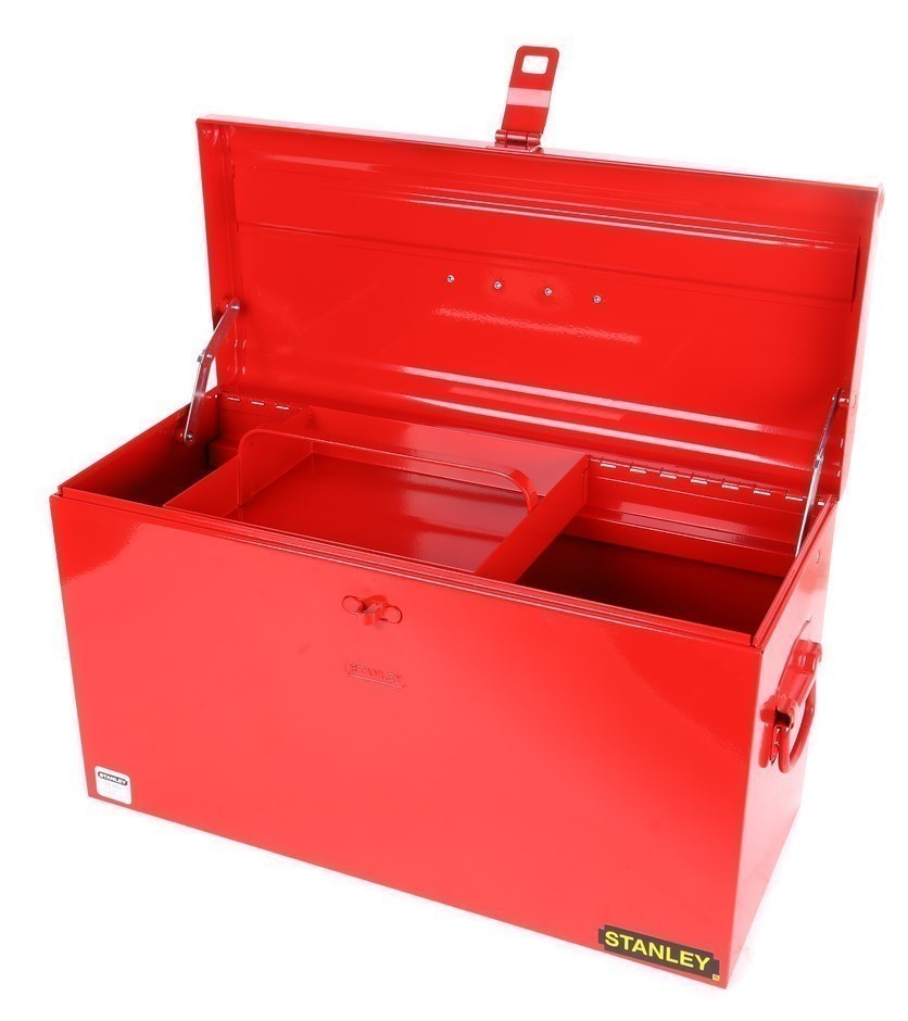 STANLEY Heavy Duty Metal Tool Box 565 x 250 x 325mm with Sliding Tray. (SN: