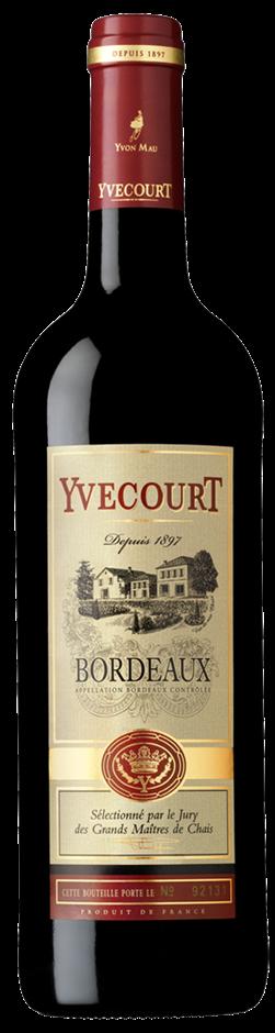 Cellier Yvecourt Rouge 2018 (6 x 750mL) Bordeaux AOC, France