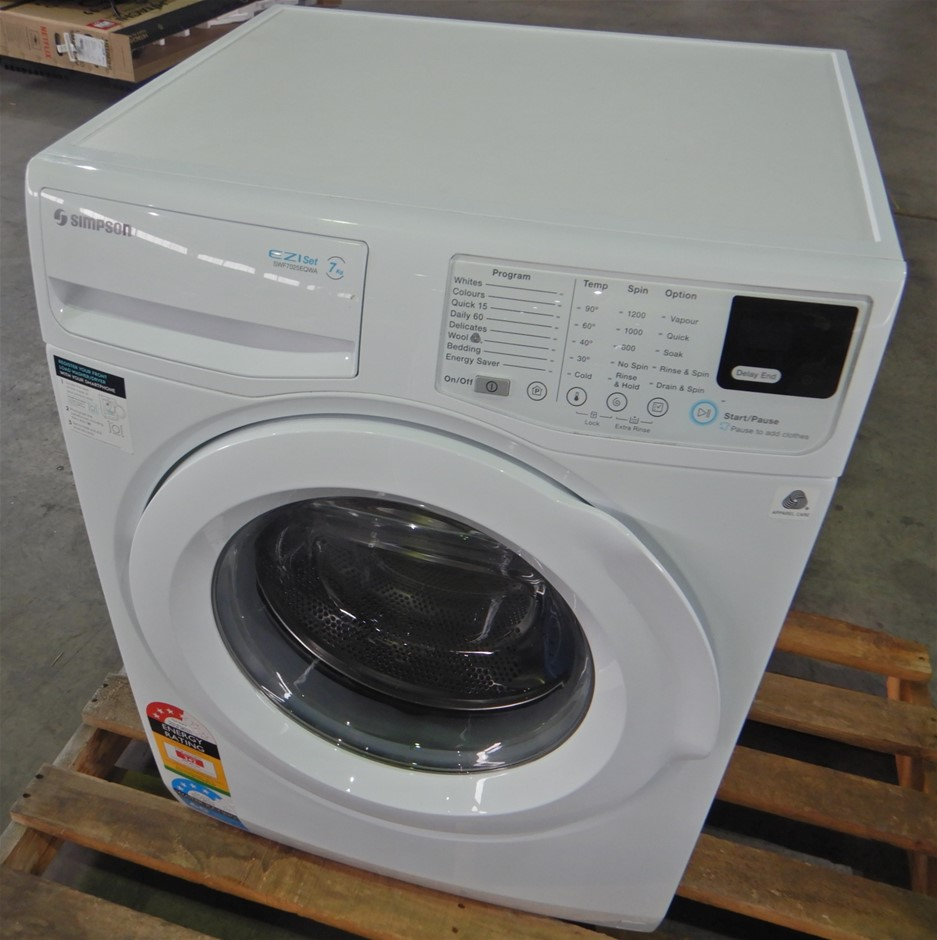 Simpson SWF7025EQWA 7kg Front Loader Washer (Pooraka, SA)