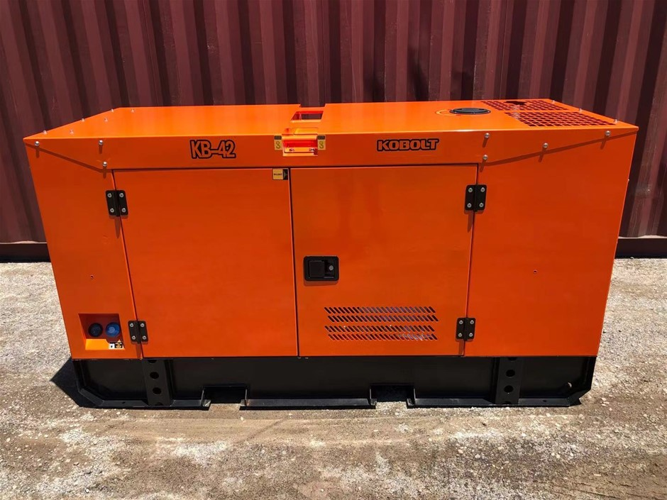Unused 2020 KOBOLT KB42 Silenced 40 kVA Generator