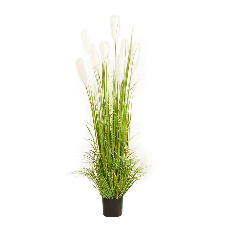 SOGA 150cm Artificial Potted Reed Grass Tree Fake Plant Simulation Décor