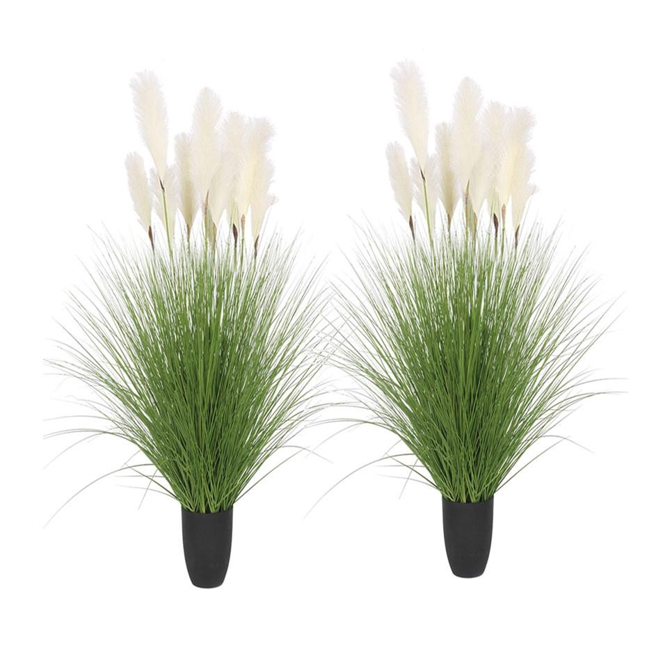 SOGA 2X 137cm Artificial Potted Bulrush Grass Fake Plant Simulation
