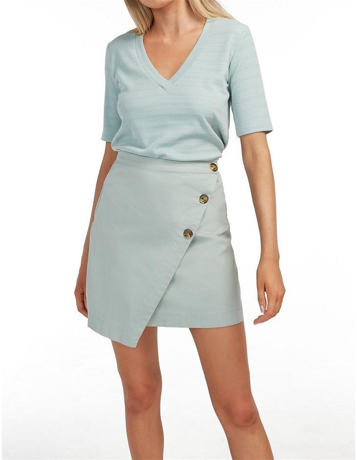 THE FIFTH LABEL Schedule Skirt. Size XS, Colour: Seafoam. 100% Cotton. Buye