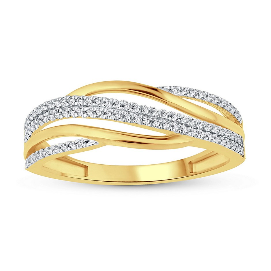 9ct Yellow Gold, 0.19ct Diamond Ring