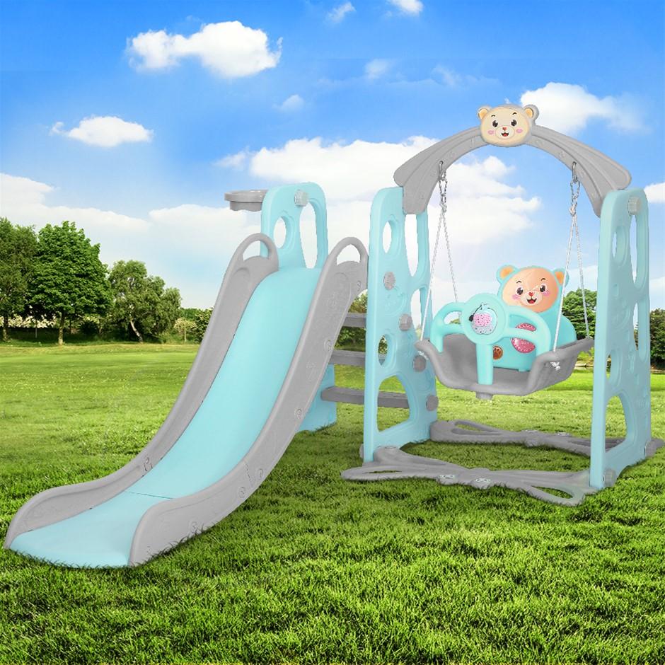 Keezi Kids Slide Swing Basketball Hoop Activity Center Toddlers Play Set