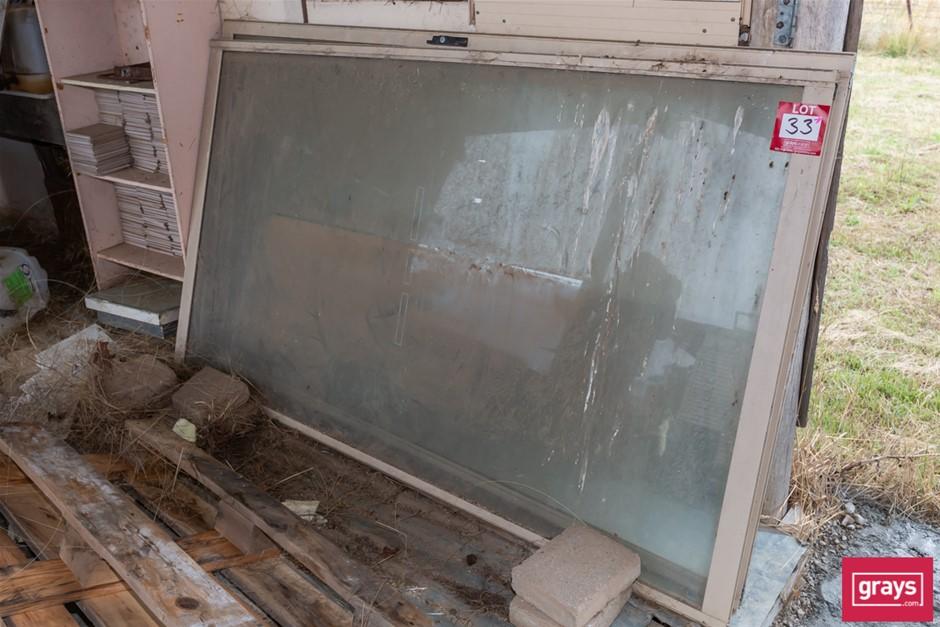 2x Glass Sliding Door Panels