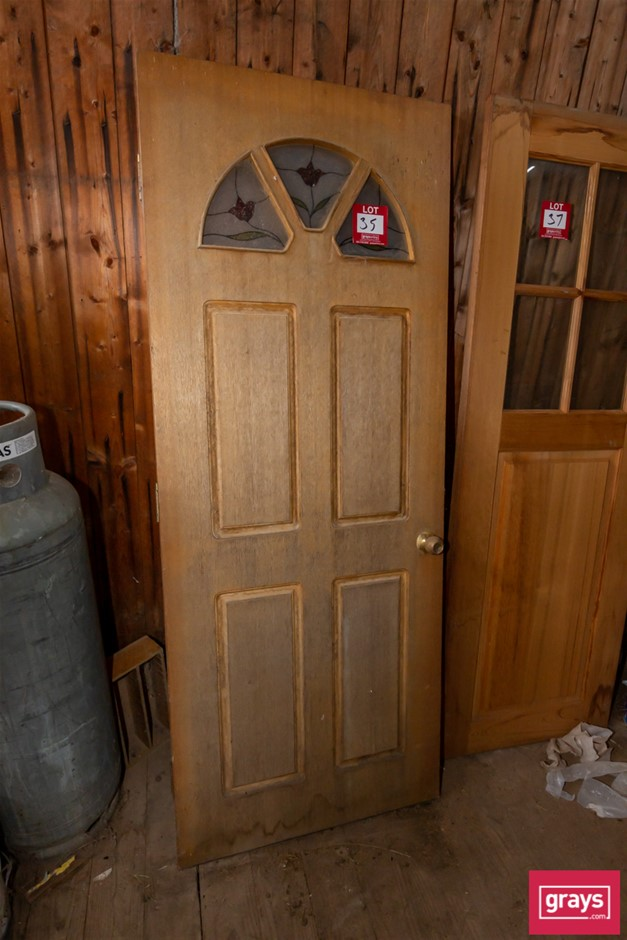 Timber Entry Door with Glass Panels