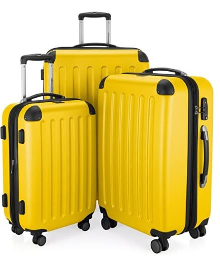 Hauptstadtkoffer Spree - Set of 3 Luggages Suitcase - Yellow