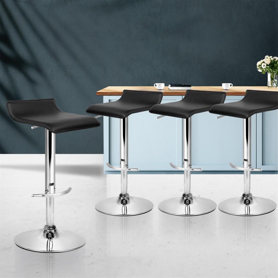 Buy Artiss 9x Bar Stools SENA Kitchen Swivel Bar Stool Leather ...