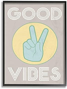 THE STUPELL HOME DÉCOR COLLECTION Good Vibes Wall Art 11 x 14 Inches, (SN:B
