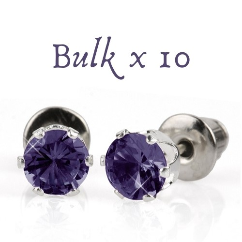 BULK PACK - 10 x 5mm Birthstone Earrings (June) - Great Gift Idea