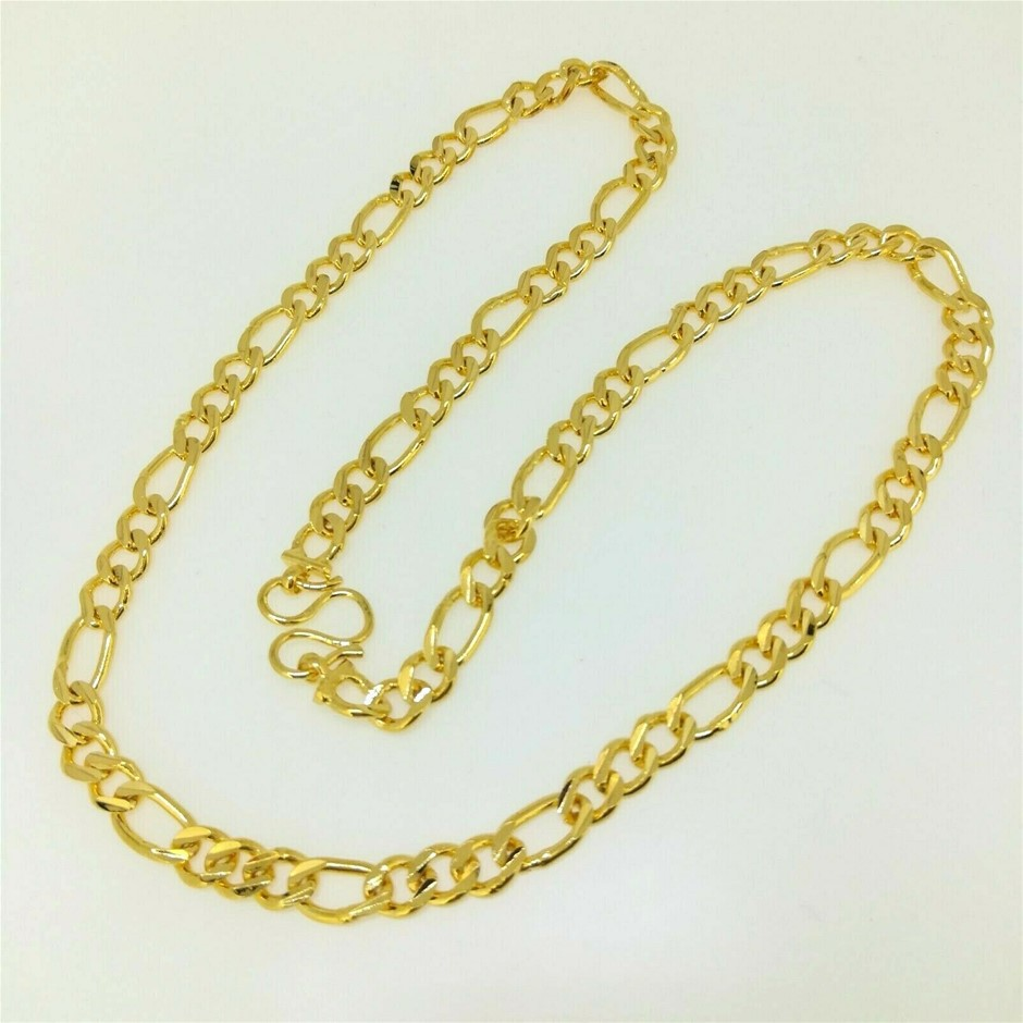 Classic 18k Yellow Gold Filled GF Figaro 6mm 50cm Chain Necklace