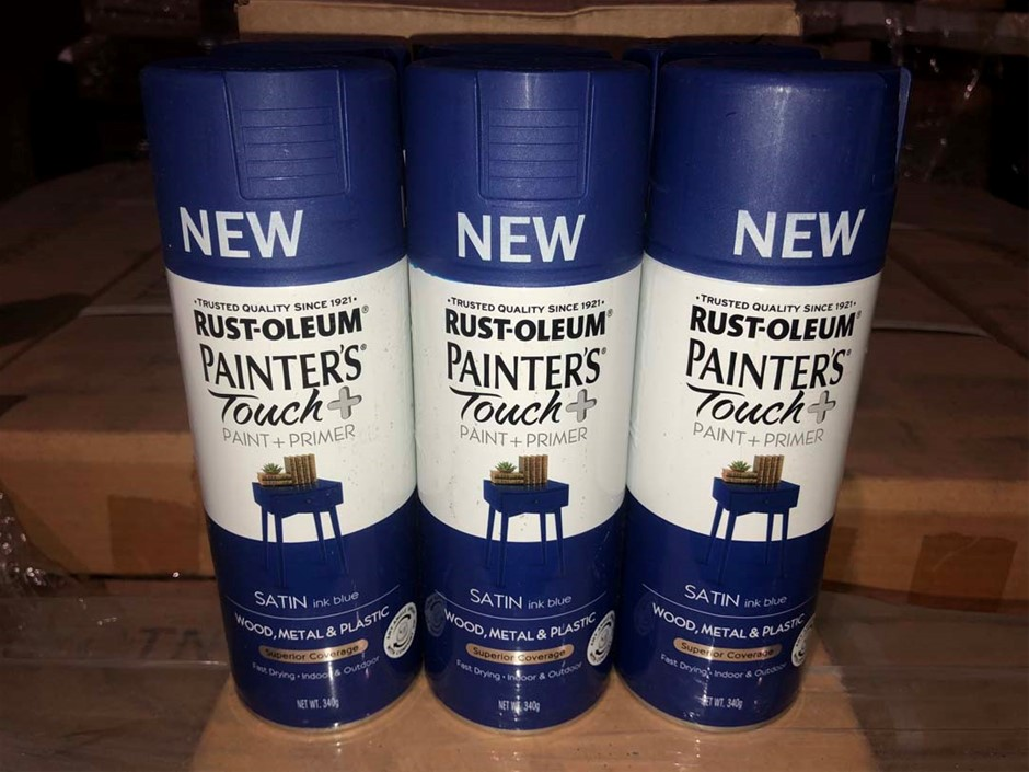6 x cans Satin Ink Blue 'Painter Touch' Spray Paint