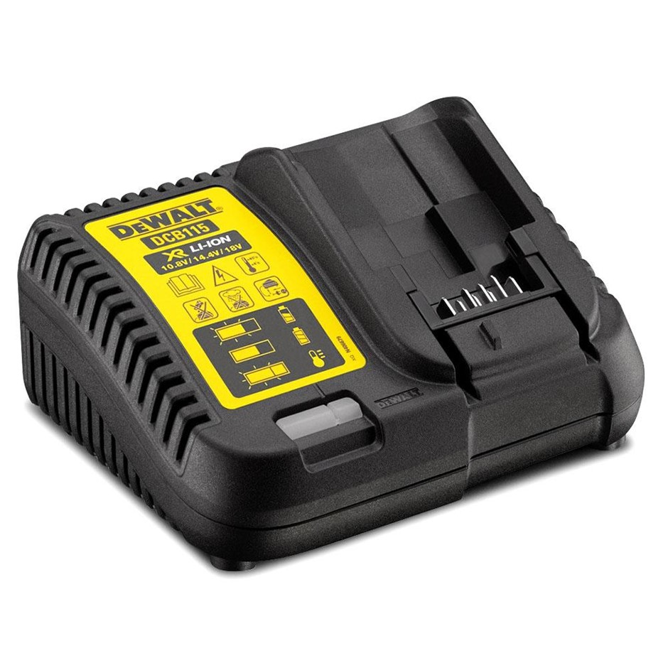 DEWALT 18V Multi-Volt Charger. N.B. Power on test passed. Limited functions