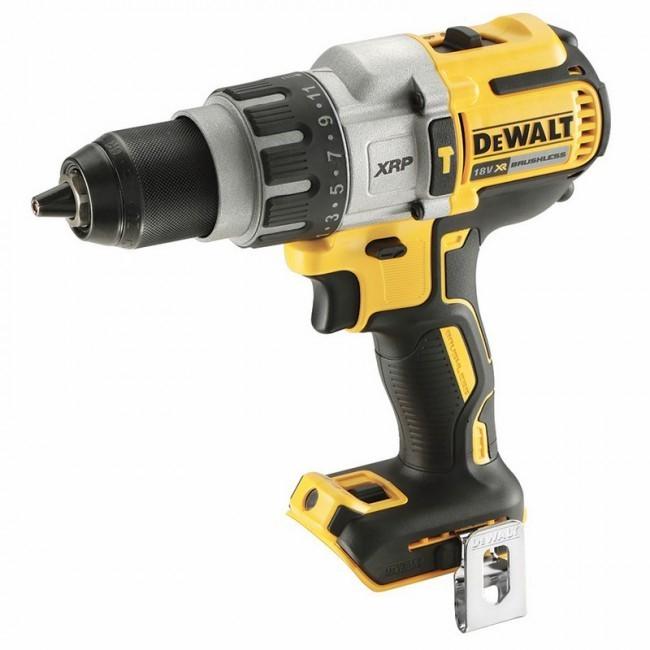 DEWALT 18V Brushless 3-Speed Hammer Drill. Skin only. N.B. Power on test pa