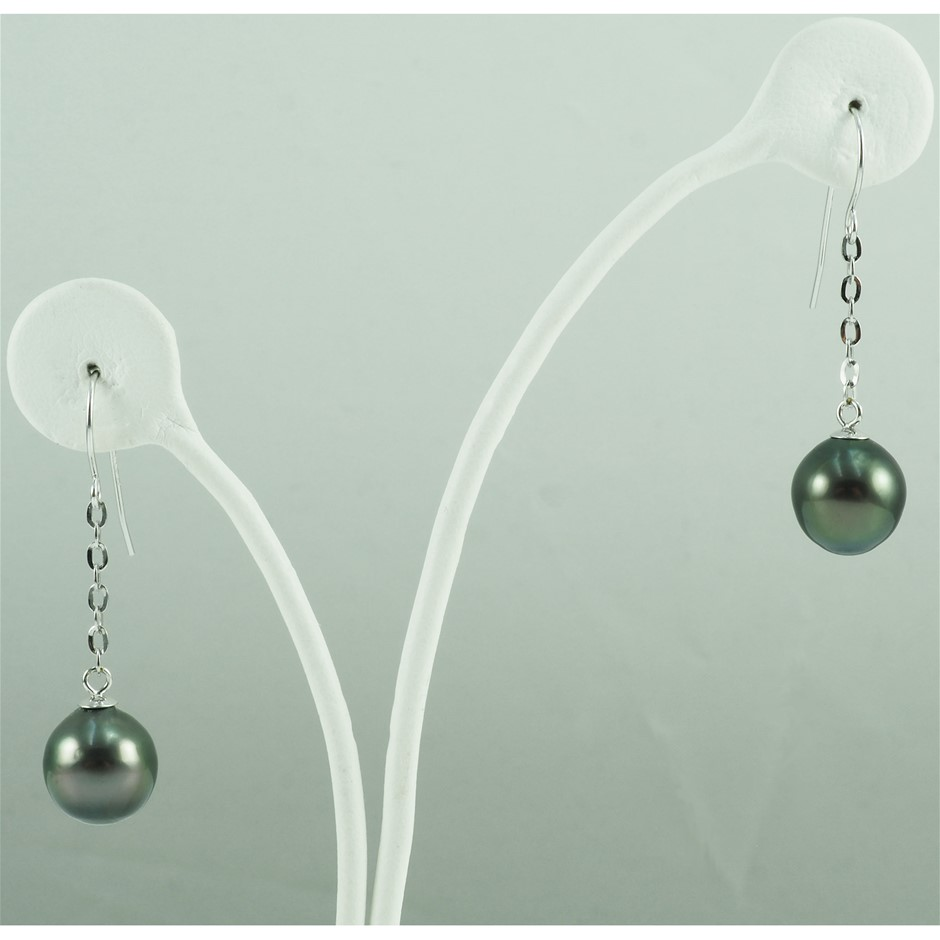 Tahitian pearl set earrings