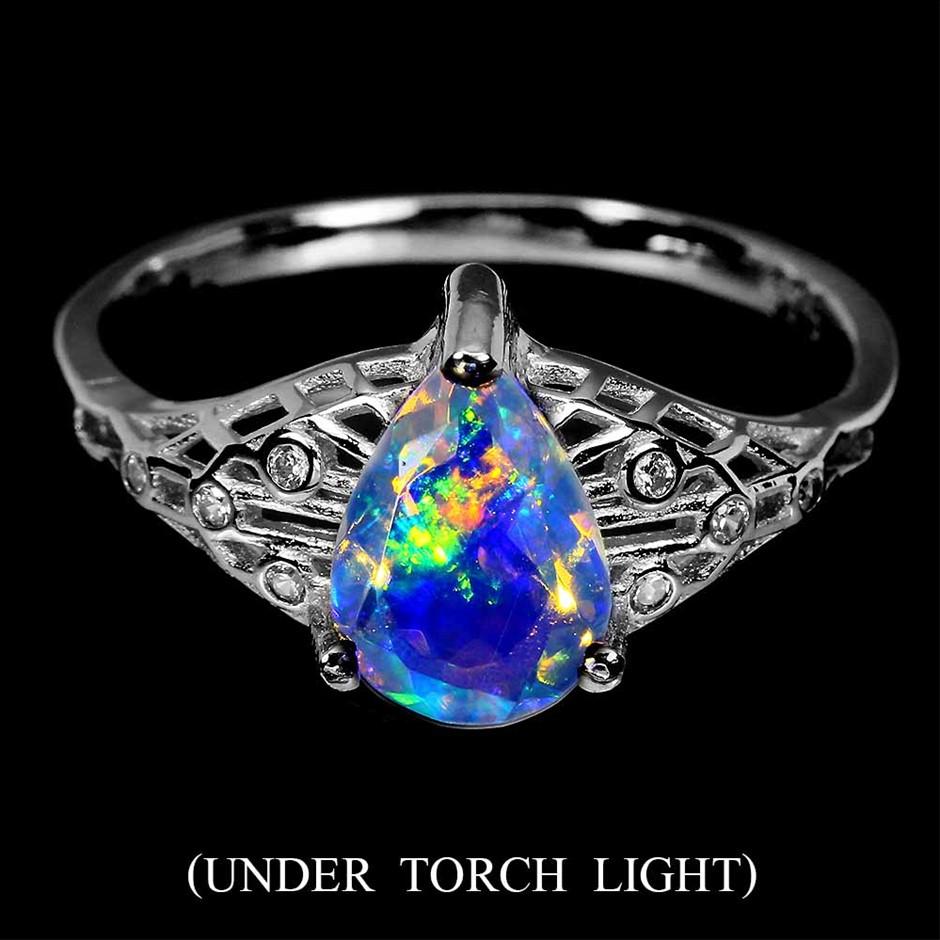 Unique Genuine Fire Opal Ring.