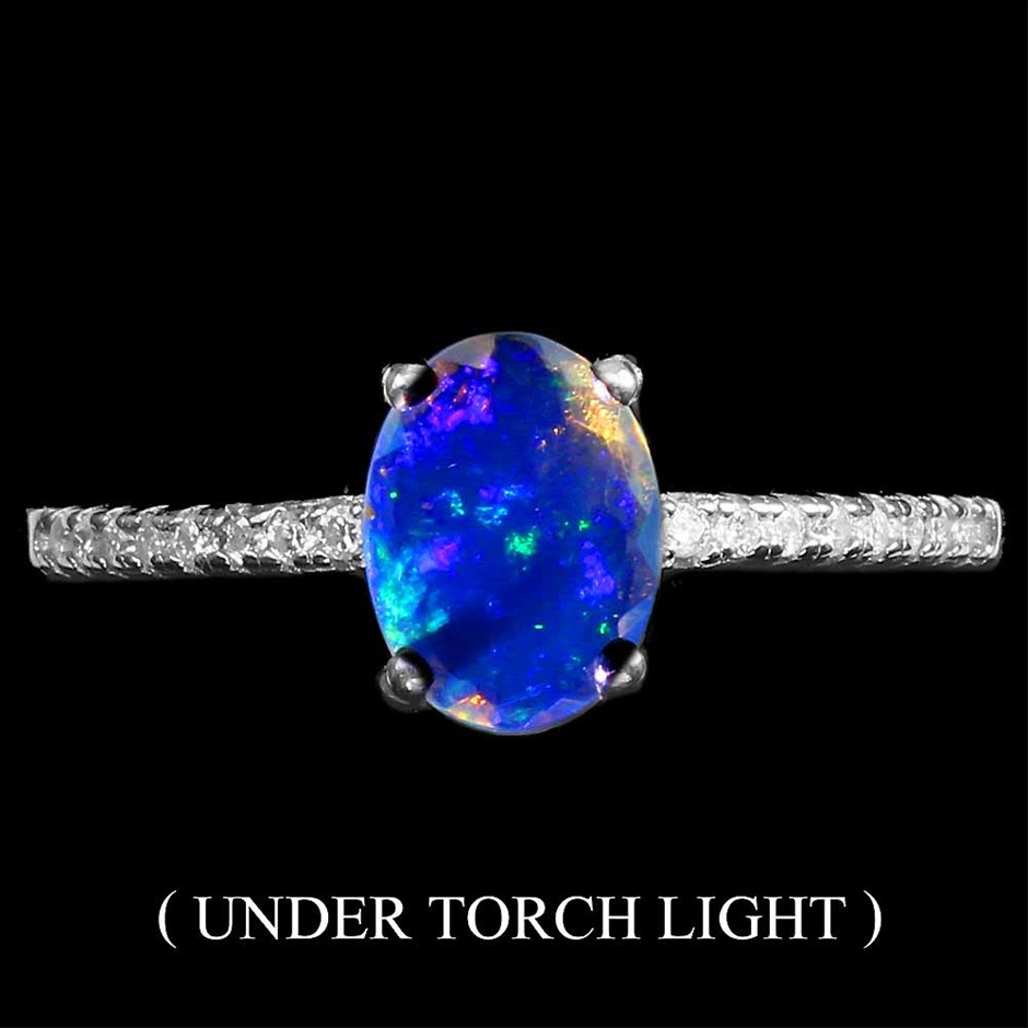 Gorgeous Genuine Fire Opal Ring