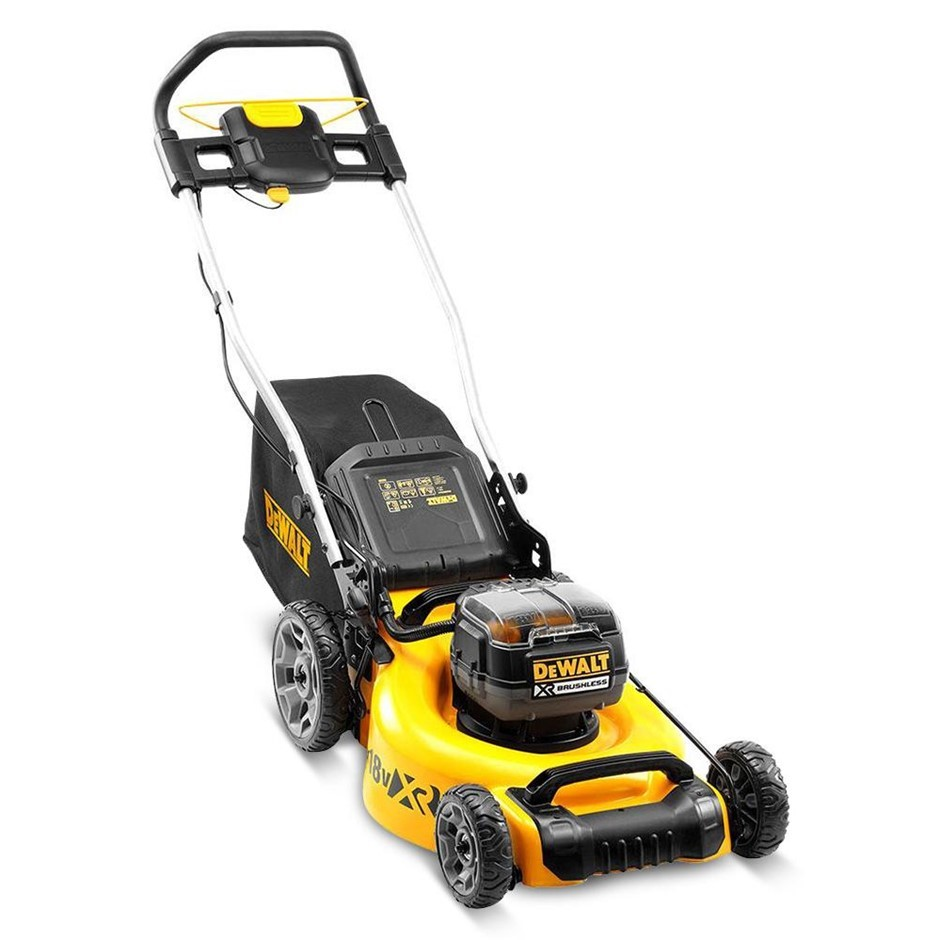 DEWALT 36V XR Li-On Cordless Brushless Lawn Mower. Skin Only. N.B. Power on