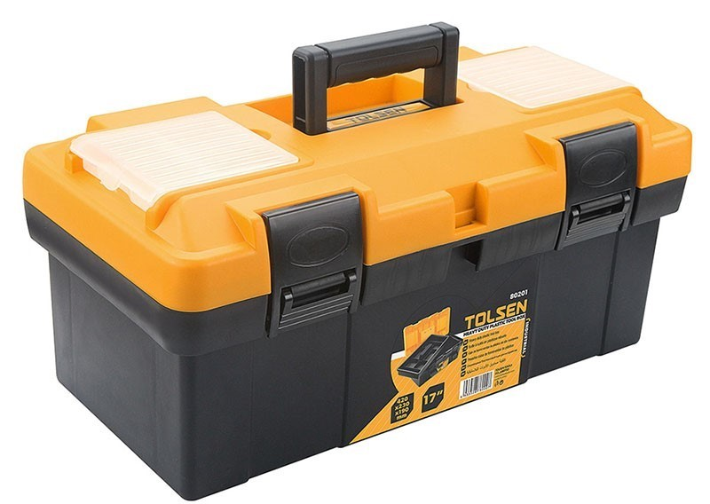 TOLSEN Heavy Duty Plastic Tool Box, 420 x 230 x 190mm. Buyers Note - Discou