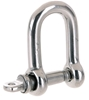 10 x Stainless Dee Shackles 4mm, Grade 316. Buyers Note - Discount Freight