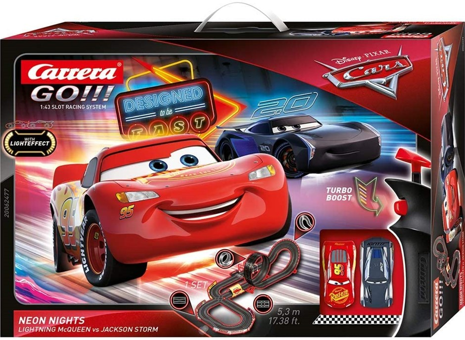 CaRRERA GO!!! Disney Pixar Cars Neon Nights. Buyers Note - Discount Freight