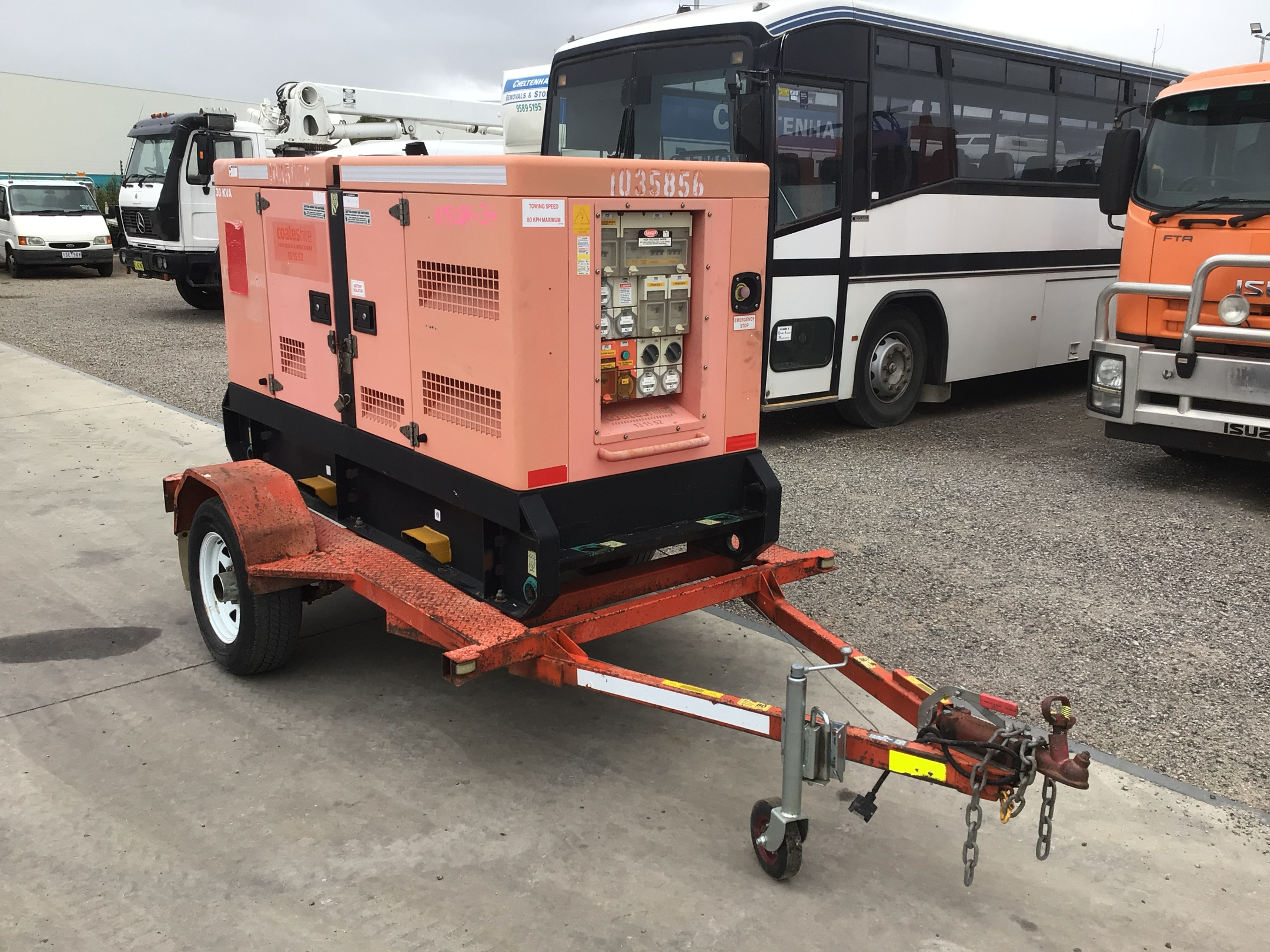 2010 Powerlink GMS30KS 30 kva Trailer Mounted Generator