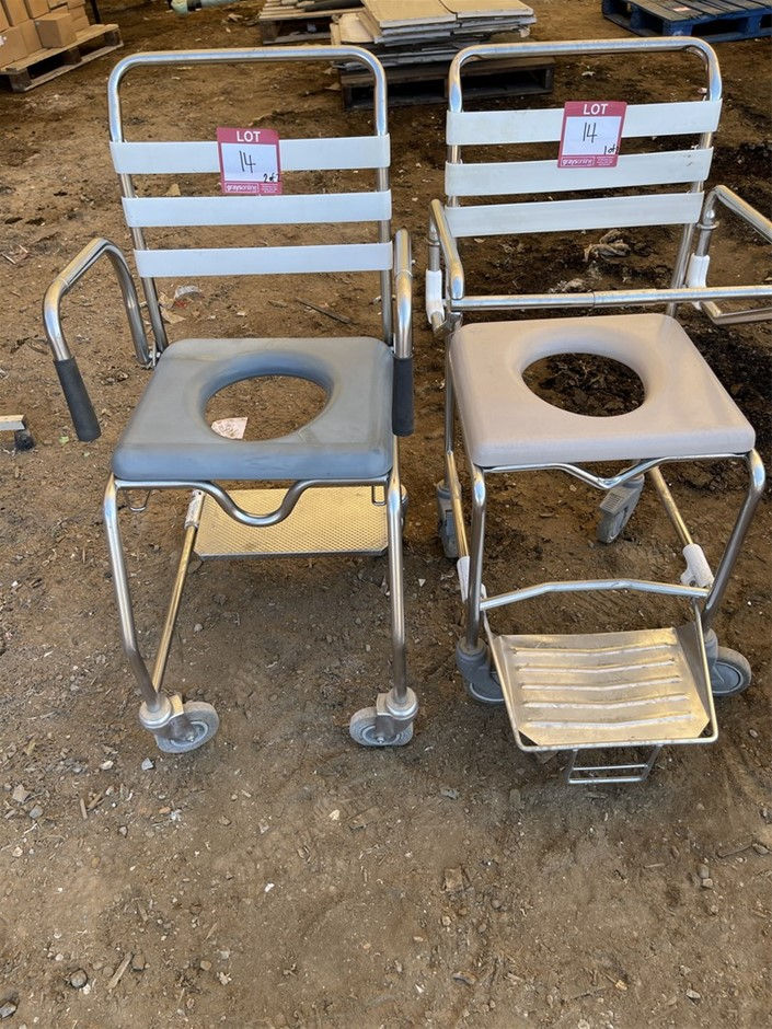Qty 2 x Toilet/Shower Seat Wheelchairs