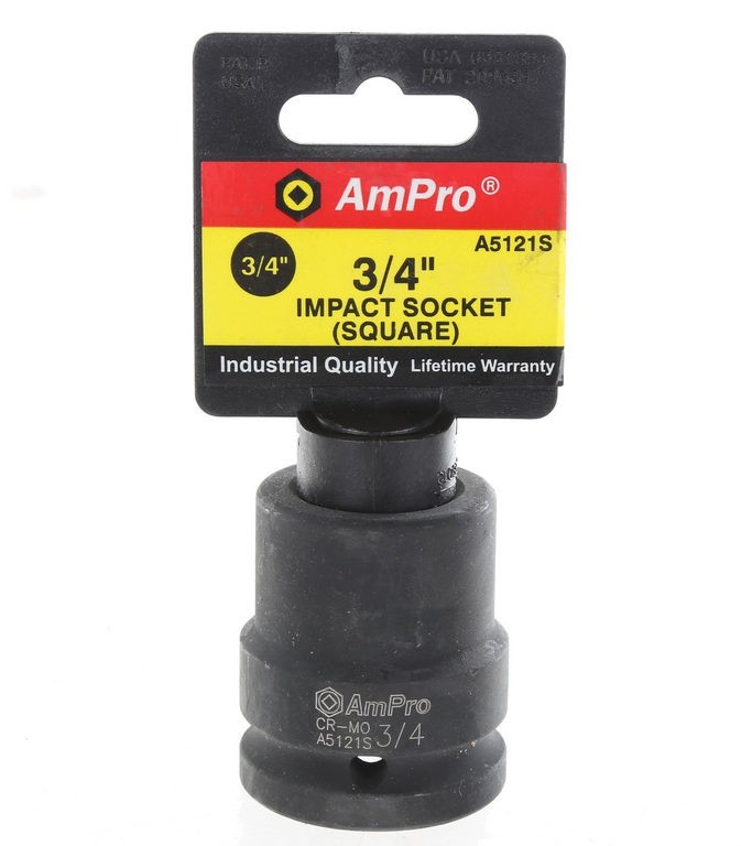 AmPro 3/4ins Dr. Square Impact Socket, Size 3/4ins. Buyers Note - Discount