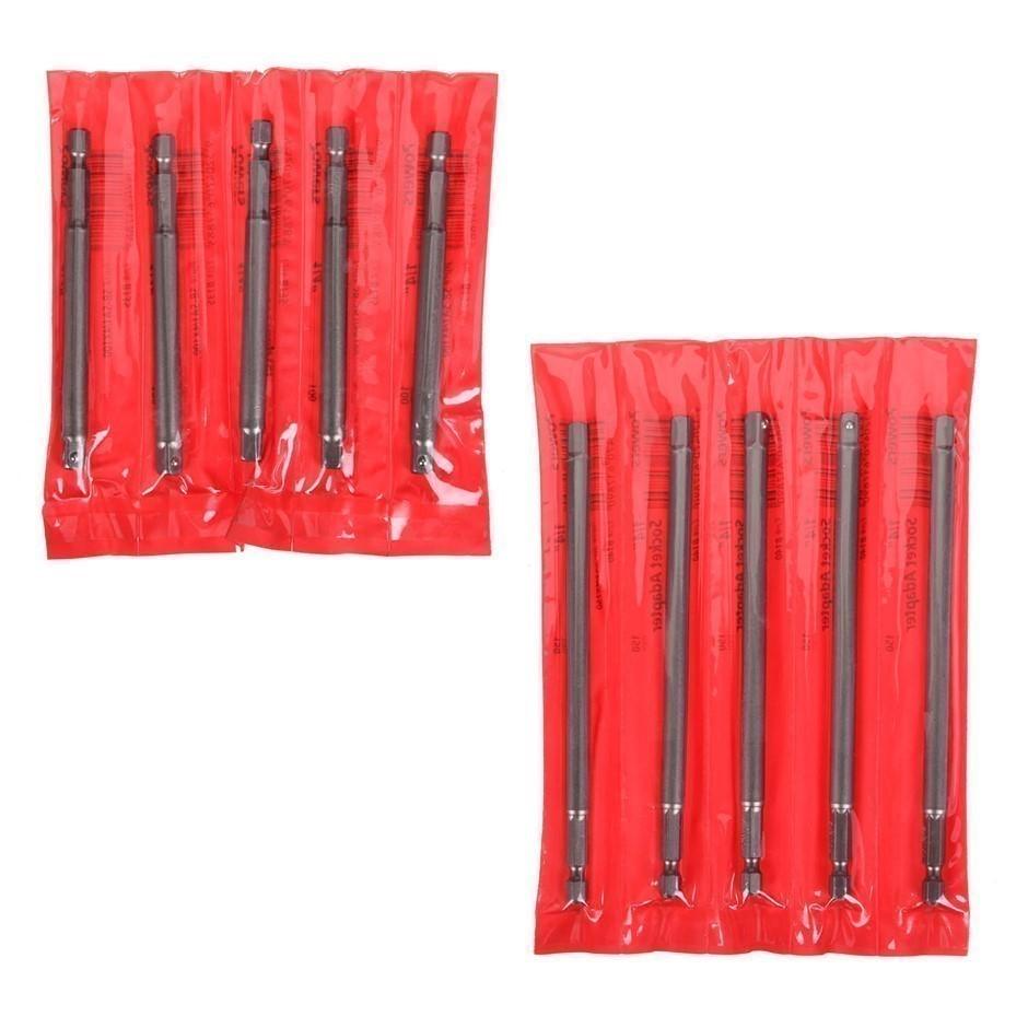 20 x POWERS Socket Adaptors- Assorted: 10 x 1/4`` x100mm & 10 x 1/4`` x 150