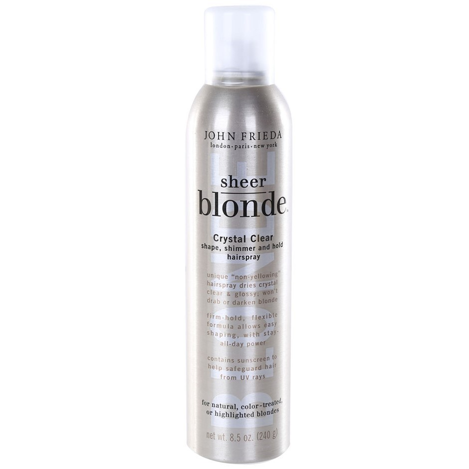 JOHN FRIEDA Sheer Blonde Crystal Clear Hairspray 240g for Natural, Colour -
