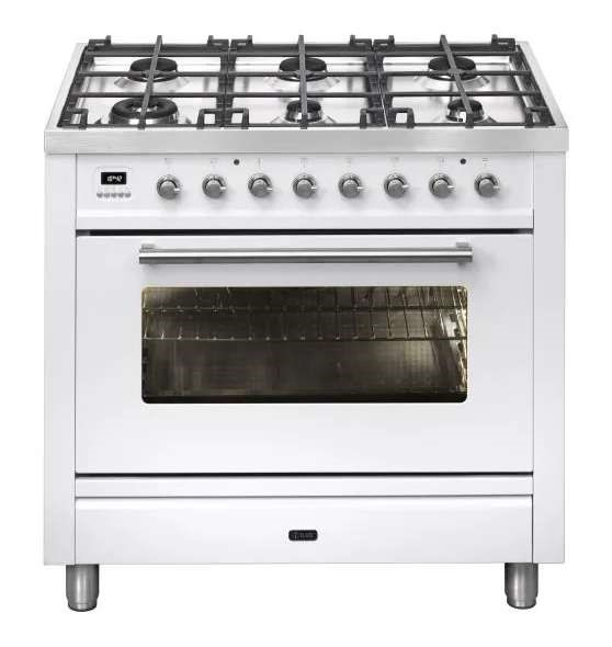 ILVE PW906MP/B 90cm Quadra Freestanding Dual Fuel Oven/Stove