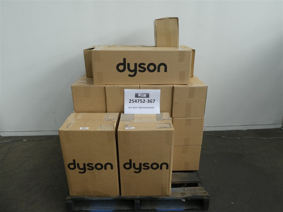 Pallet of Assorted USED/UNTESTED Dyson Vacuum Cleaners