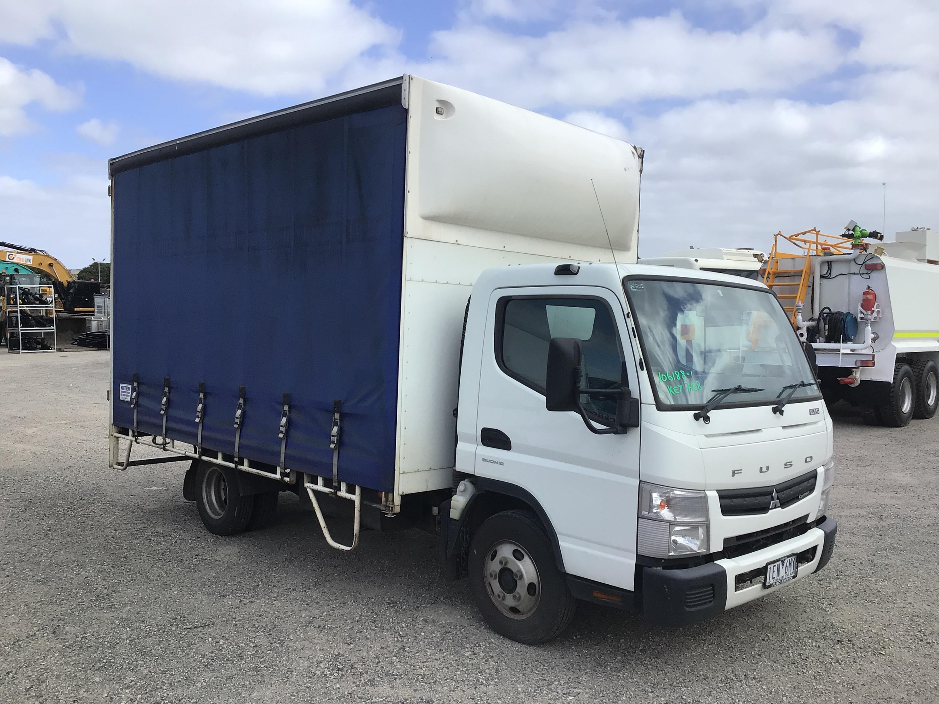 2015 Mitsubishi Canter 4 x 2 Curtainsider Rigid Truck