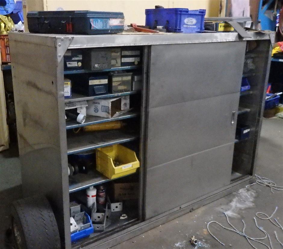Steel Cabinet with Sliding Doors