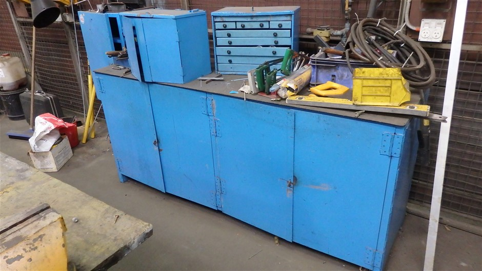 Steel Workbench including Contents