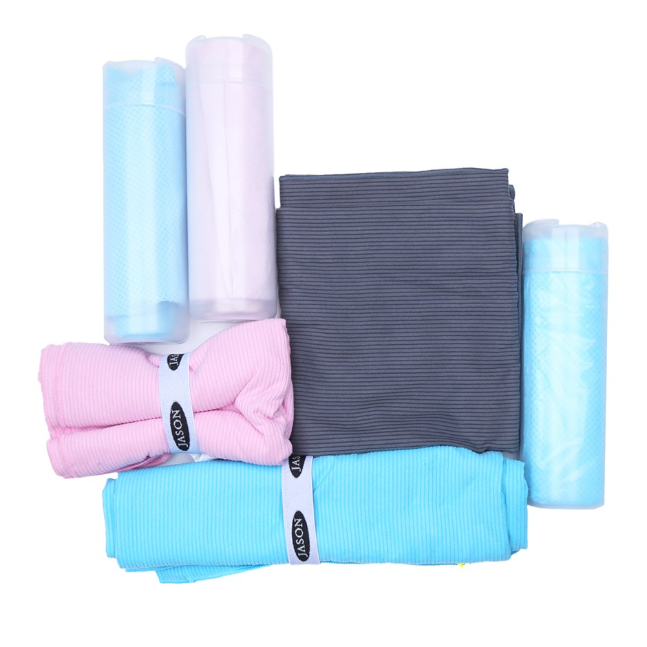 6 x Assorted JASON Gym & Drying Towels, Mulit coloured. N.B. Not in origina