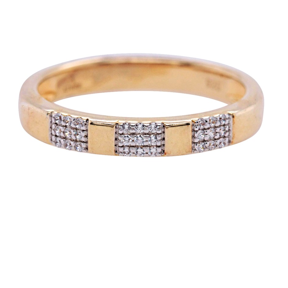 Yellow Gold Plated Sterling Silver White CZ Ring.