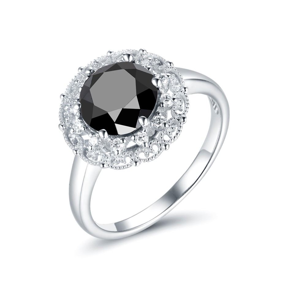 14ct White Gold, 2.10ct Diamond Ring