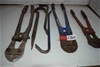 Lot of 6 Assorted Size Bolt Cutters and Pinch Bars