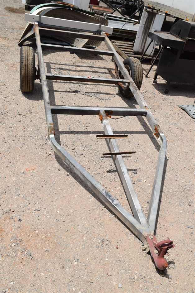 Single Axle Galvanised Boat/Flat Skel Trailer