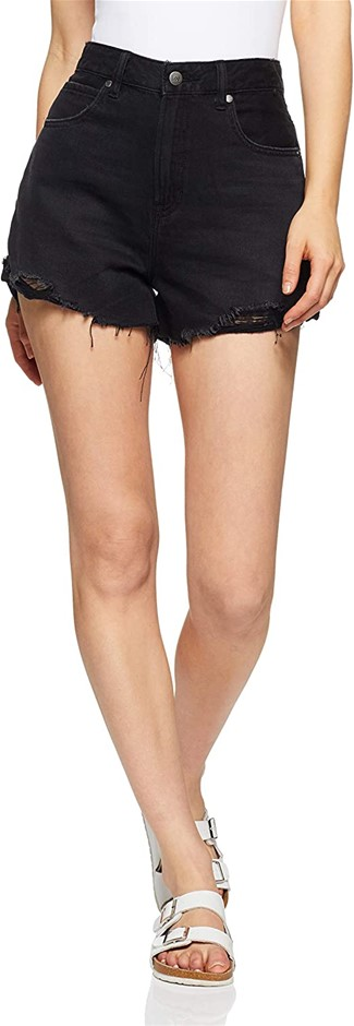 LEE Womens Stevie Denim Shorts, Colour Afterparty, Size 10. Buyers Note - D