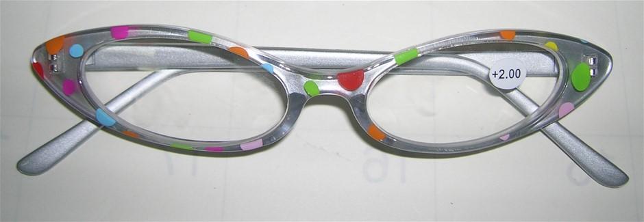 CECILY 6 x Multi Spot +2.50 Reading Glasses
